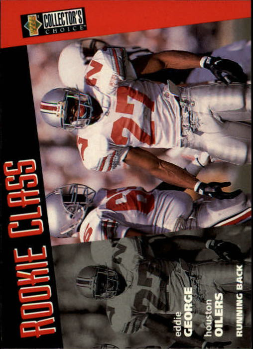 1996 Collector's Choice #12 Eddie George RC