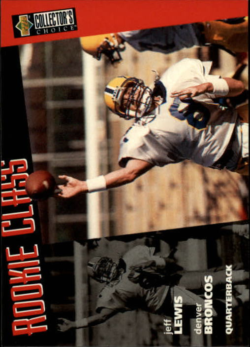 1996 Collector's Choice #40 Jeff Lewis RC
