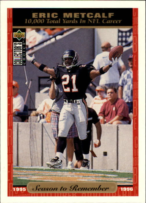 1996 Collector's Choice #46 Eric Metcalf SR