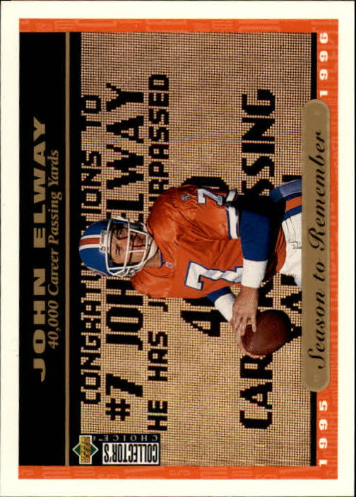 1996 Collector's Choice #55 John Elway SR