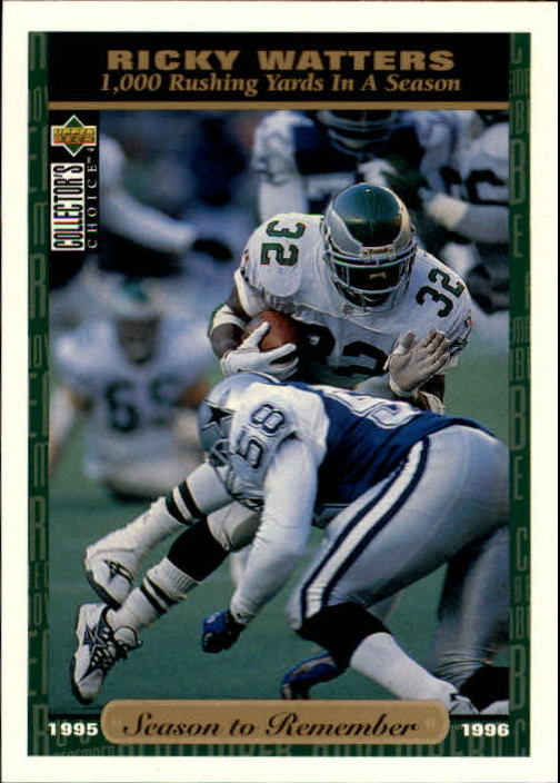 1996 Collector's Choice #71 Ricky Watters SR