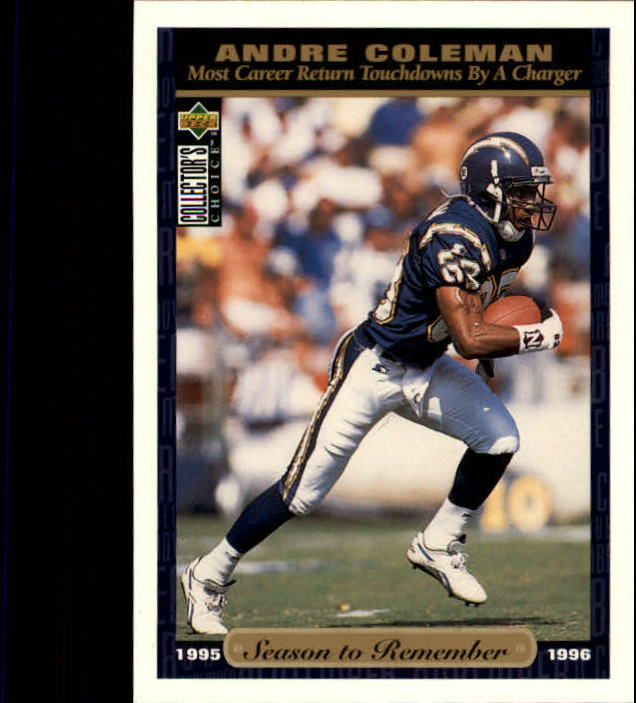 1996 Collector's Choice #73 Andre Coleman SR