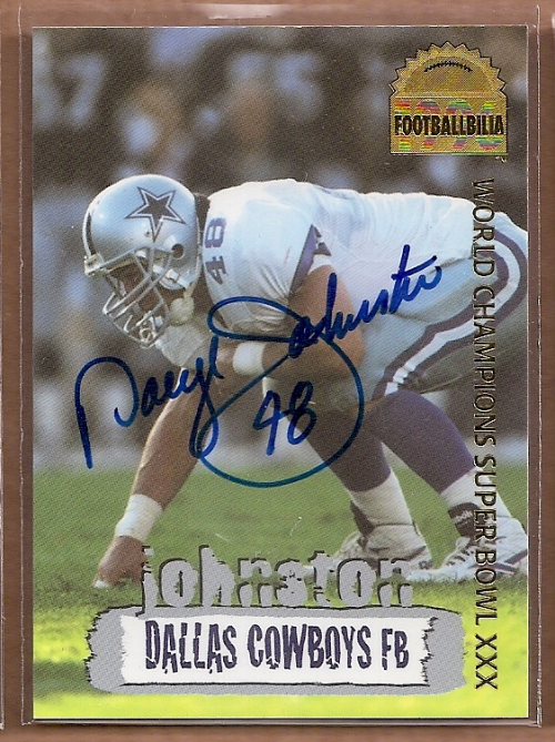 1996 Collector's Edge Cowboybilia Autographs #DCA20 Daryl Johnston/2300