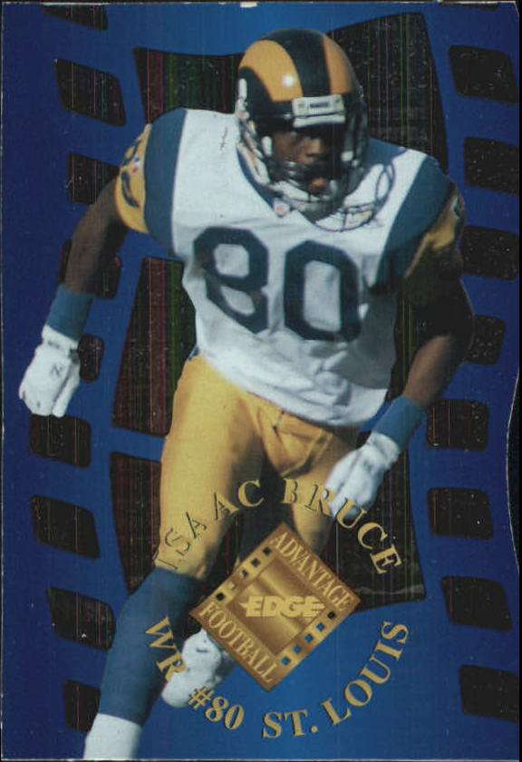 1996 Collector's Edge Advantage Crystal Cuts Silver #CC22 Isaac Bruce
