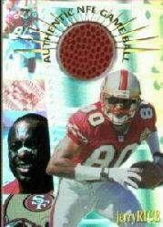 1996 Collector's Edge Advantage Game Ball #G27 Jerry Rice