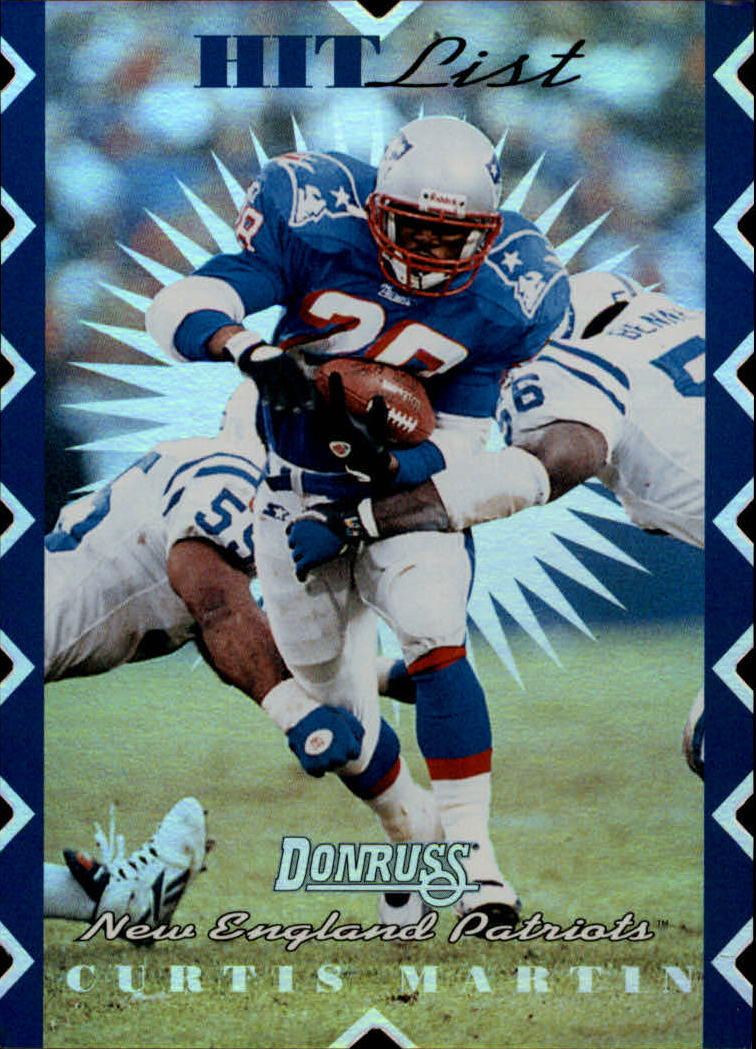 1996 Donruss Hit List #10 Curtis Martin