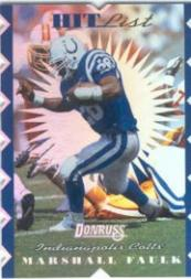 1996 Donruss Hit List #13 Marshall Faulk
