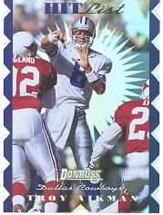 1996 Donruss Hit List #16 Troy Aikman