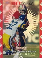 1996 Donruss Hit List #17 Jerry Rice