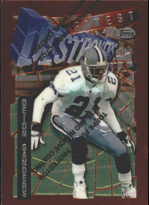 1996 Finest #151 Deion Sanders B