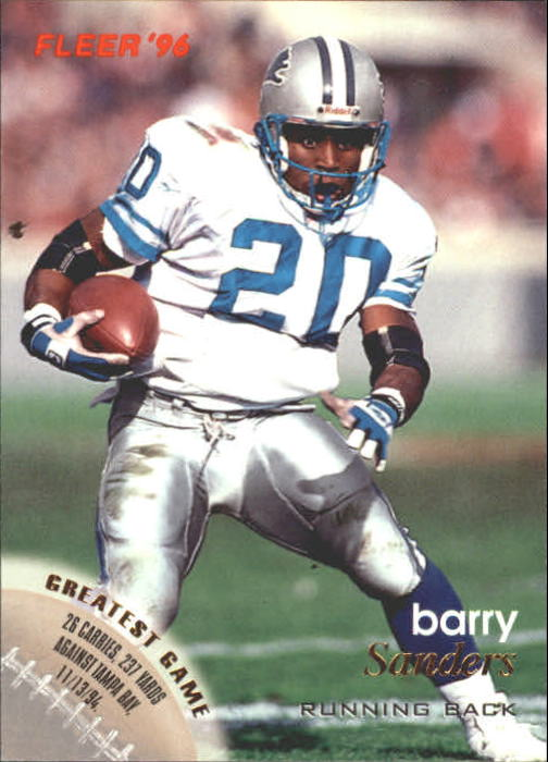 1996 Fleer #47 Barry Sanders