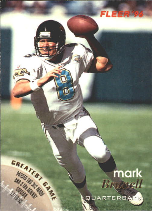 1996 Fleer #63 Mark Brunell