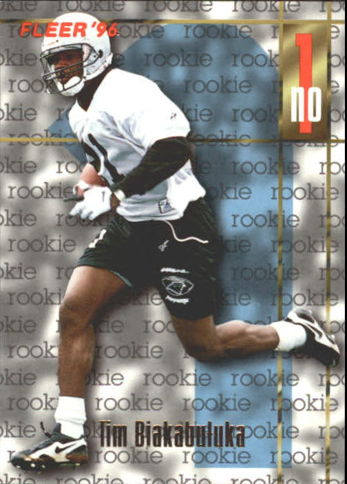 1996 Fleer #144 Tim Biakabutuka RC