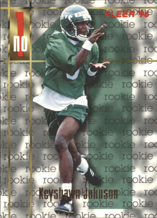 1996 Fleer #161 Keyshawn Johnson RC