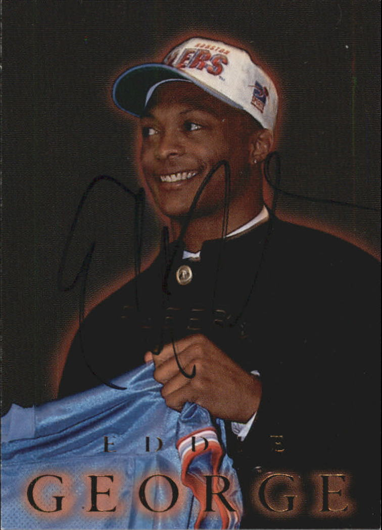 1996 Fleer Rookie Autographs #A2 Eddie George