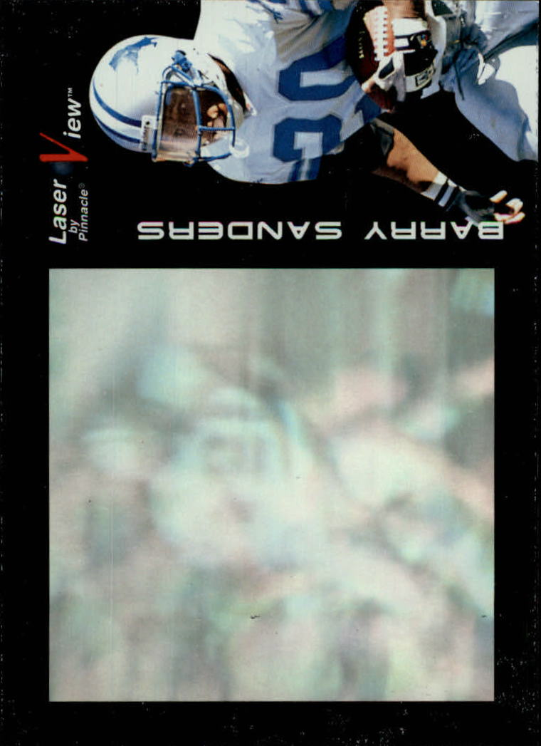 1996 Laser View #6 Barry Sanders