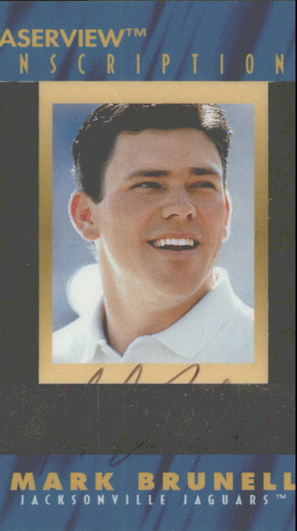 1996 Laser View Inscriptions #4 Mark Brunell/3200