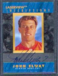 1996 Laser View Inscriptions #6 John Elway/3100