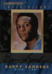 1996 Laser View Inscriptions #22 Barry Sanders/2900
