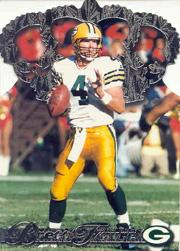 1996 Pacific Gold Crown Die Cuts Platinum #9 Brett Favre