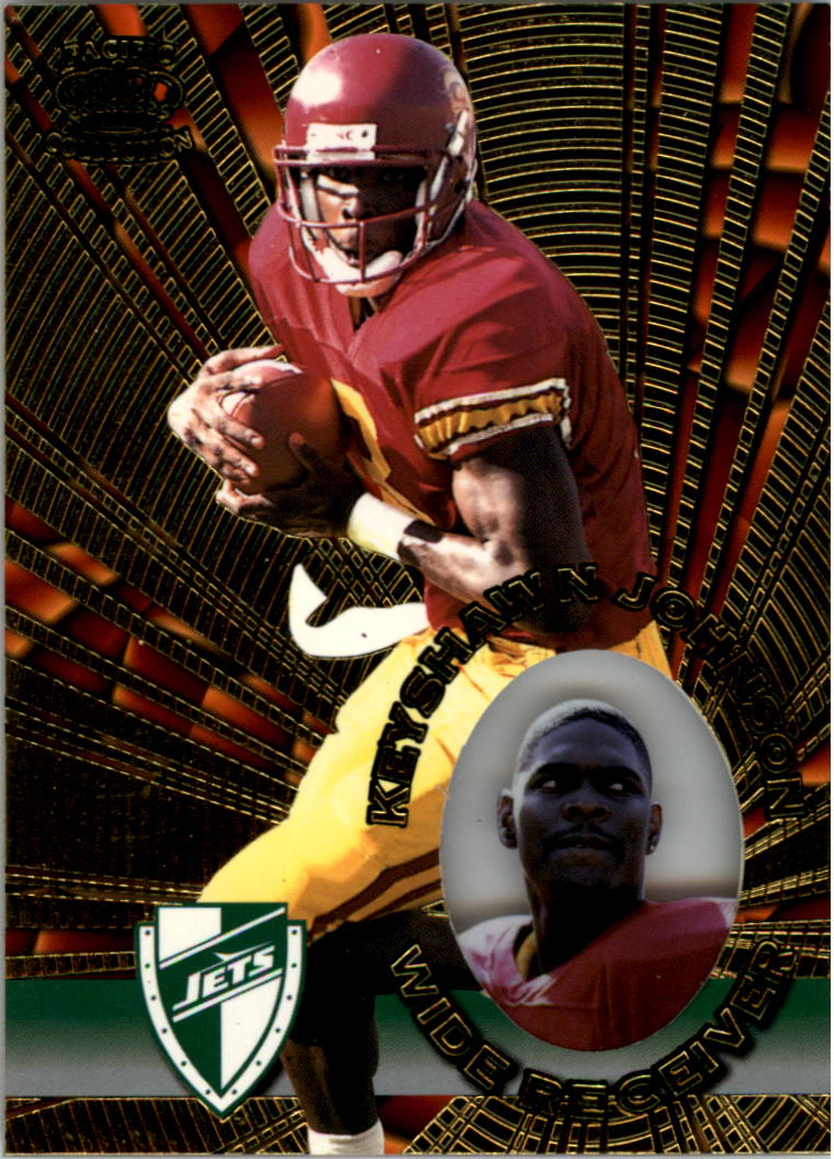 1996 Pacific Invincible #98 Keyshawn Johnson RC