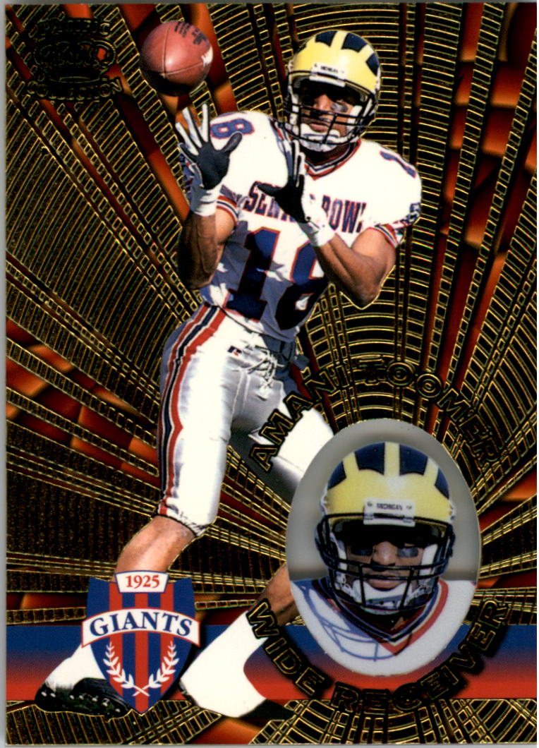 1996 Pacific Invincible #105 Amani Toomer RC