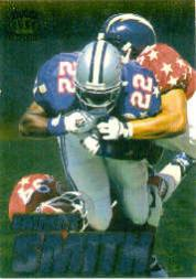 1996 Pacific Invincible Pro Bowl #15 Emmitt Smith