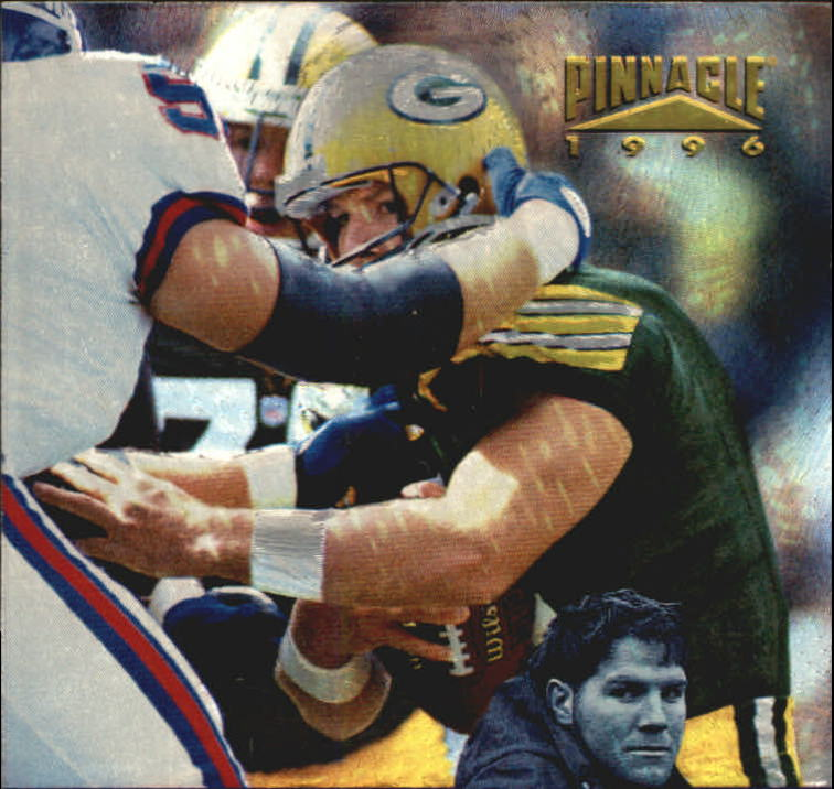 1996 Pinnacle Black 'N Blue #7 Brett Favre