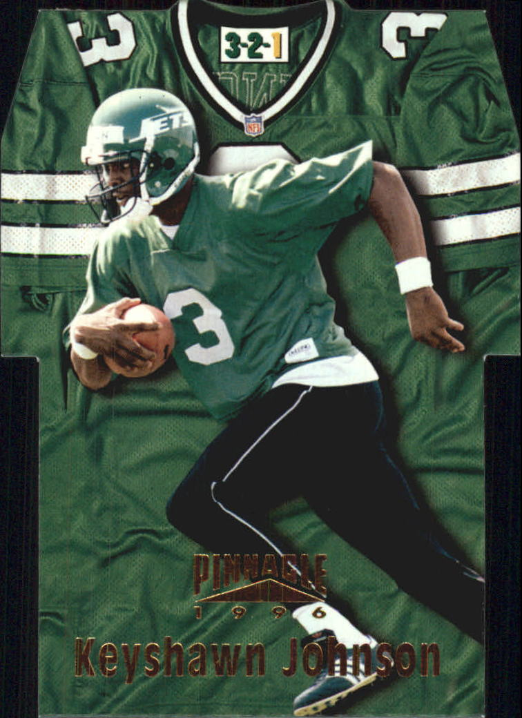 1996 Pinnacle Die Cut Jerseys #16 Keyshawn Johnson