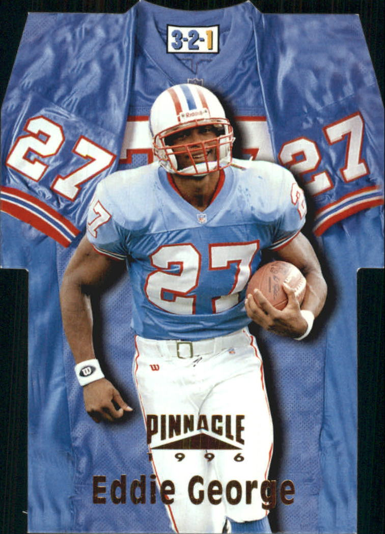 1996 Pinnacle Die Cut Jerseys #20 Eddie George