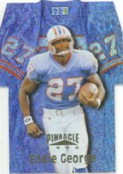 1996 Pinnacle Die Cut Jerseys Holofoil #20 Eddie George