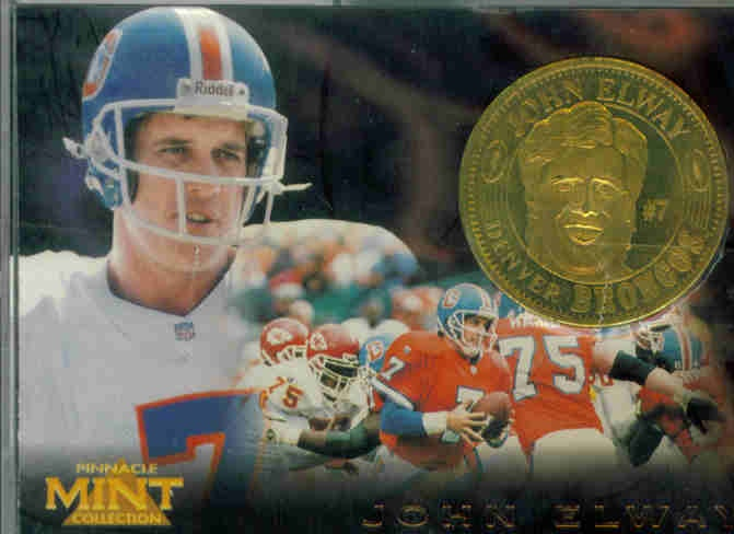 1996 Pinnacle Mint Coins Brass #2 John Elway