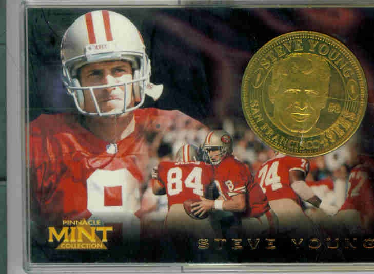 1996 Pinnacle Mint Coins Brass #6 Steve Young