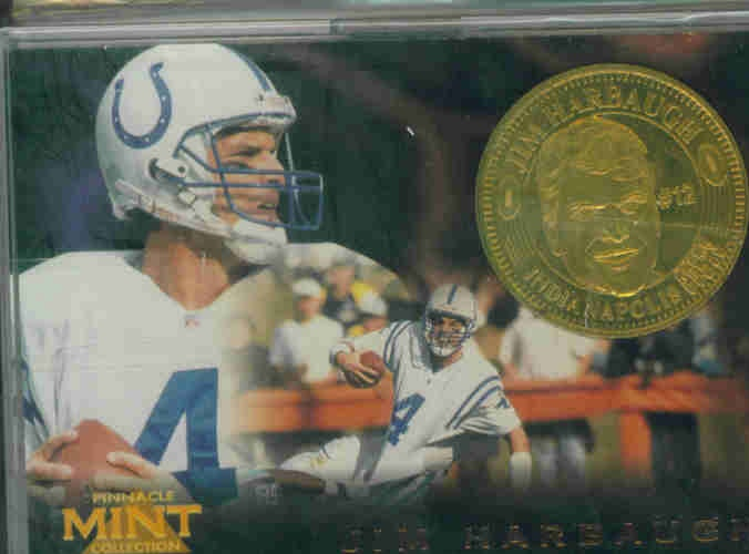 1996 Pinnacle Mint Coins Brass #10 Jim Harbaugh