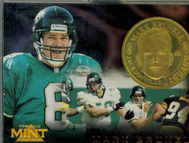 1996 Pinnacle Mint Coins Brass #26 Mark Brunell