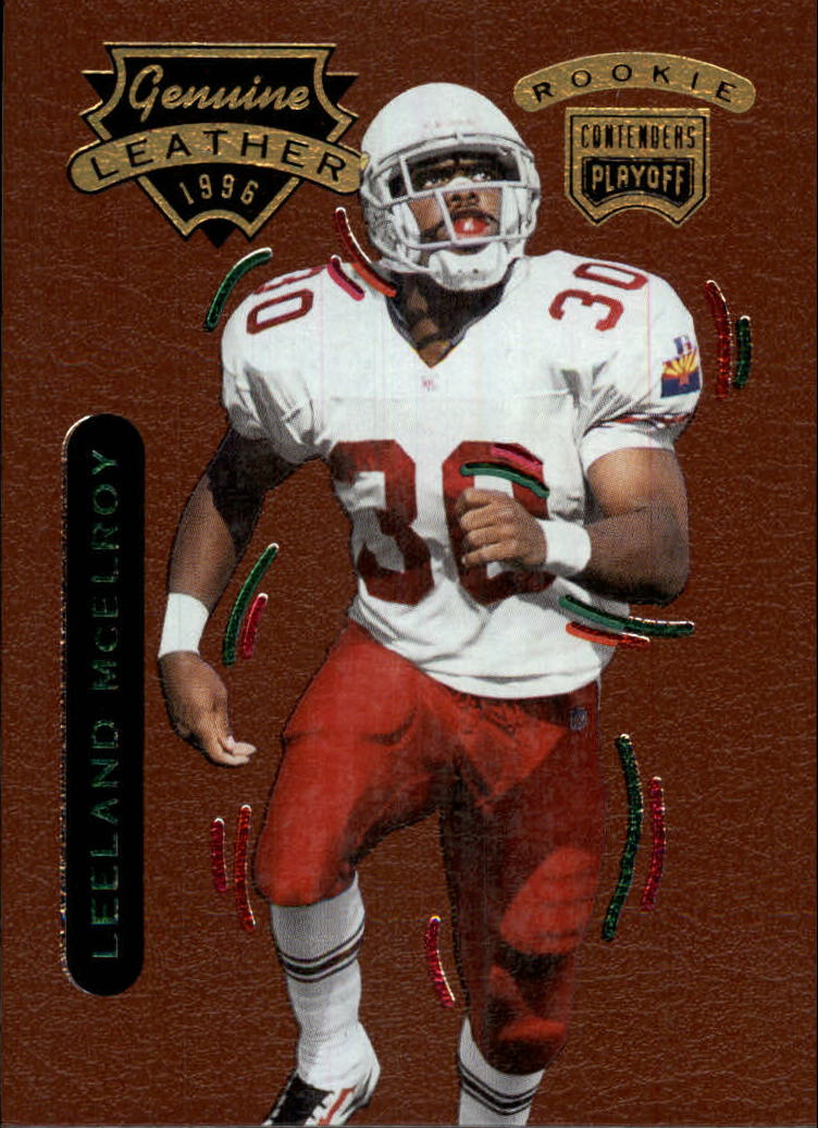 1996 Playoff Contenders Leather #30 Leeland McElroy G