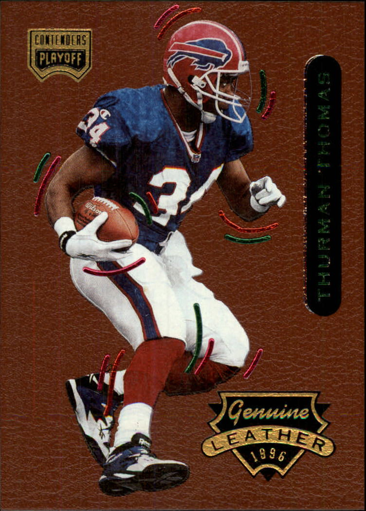 1996 Playoff Contenders Leather #35 Thurman Thomas G
