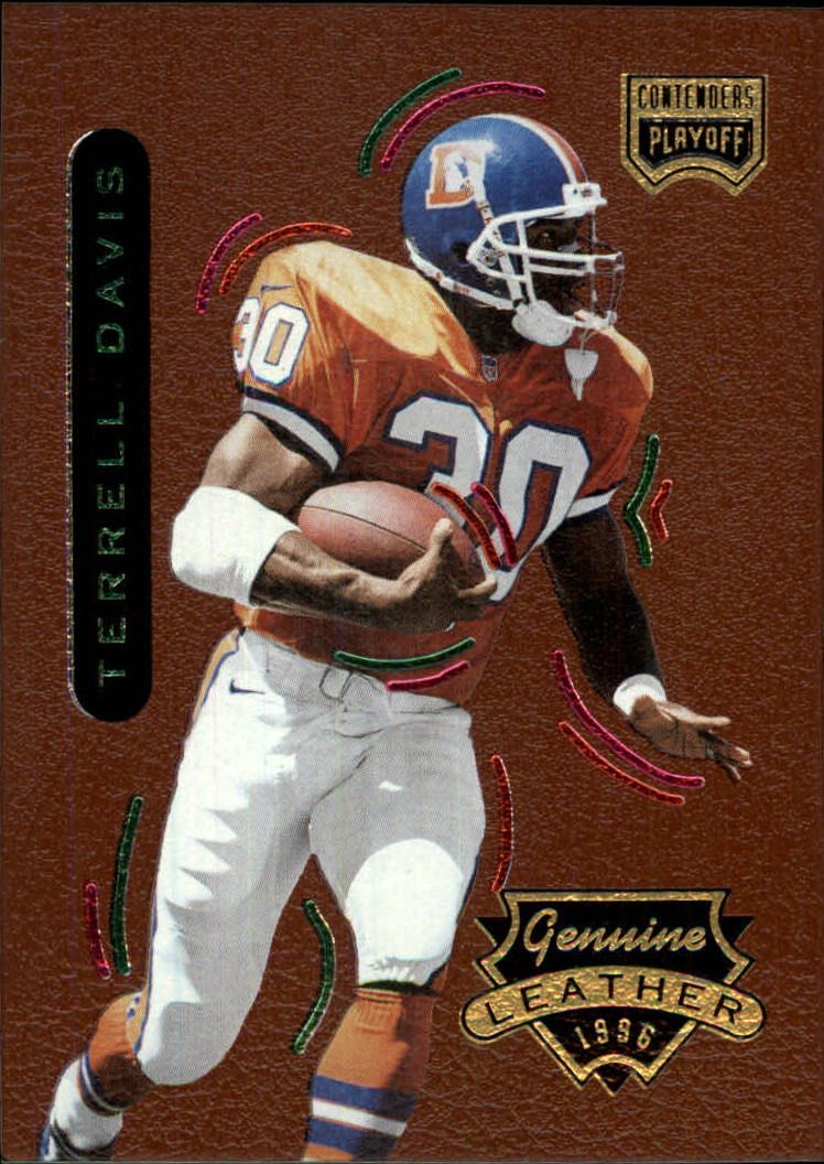 1996 Playoff Contenders Leather #48 Terrell Davis G