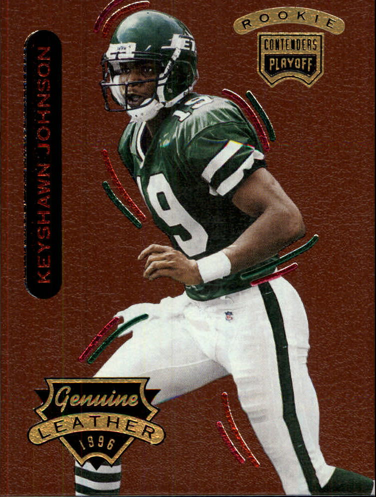 1996 Playoff Contenders Leather #59 Keyshawn Johnson R