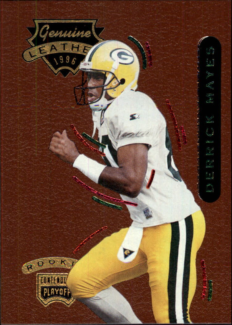 1996 Playoff Contenders Leather #61 Derrick Mayes G