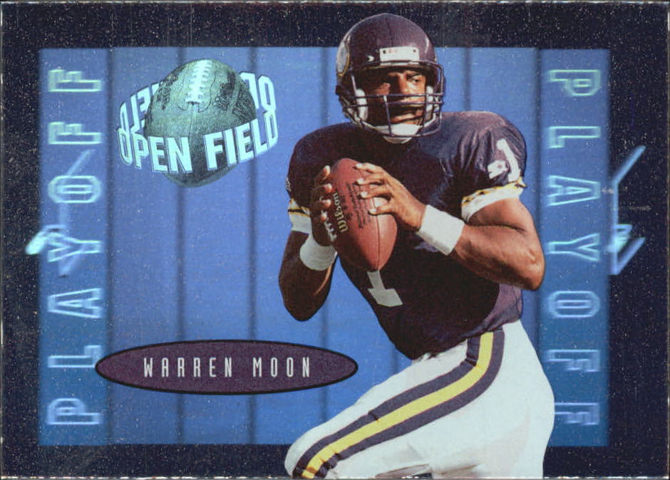 1996 Playoff Contenders Open Field Foil #56 Warren Moon P