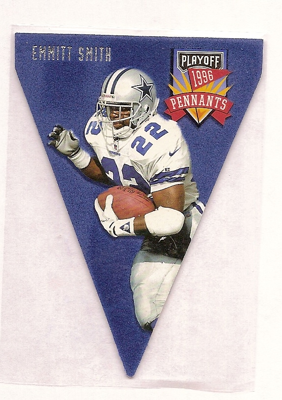 1996 Playoff Contenders Pennants #22 Emmitt Smith R