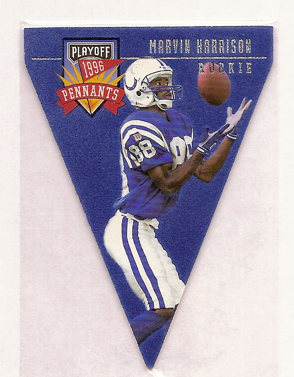 1996 Playoff Contenders Pennants #93 Marvin Harrison R