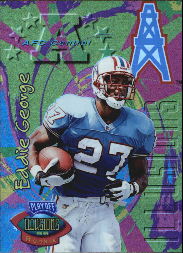 1996 Playoff Illusions Spectralusion Elite #65 Eddie George