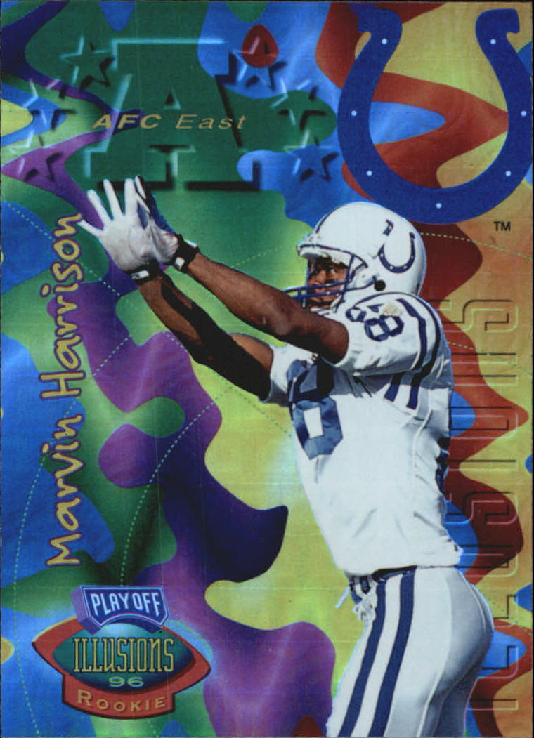 1996 Playoff Illusions Spectralusion Elite #66 Marvin Harrison