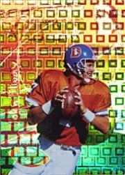 1996 Playoff Illusions Spectralusion Elite #74 John Elway
