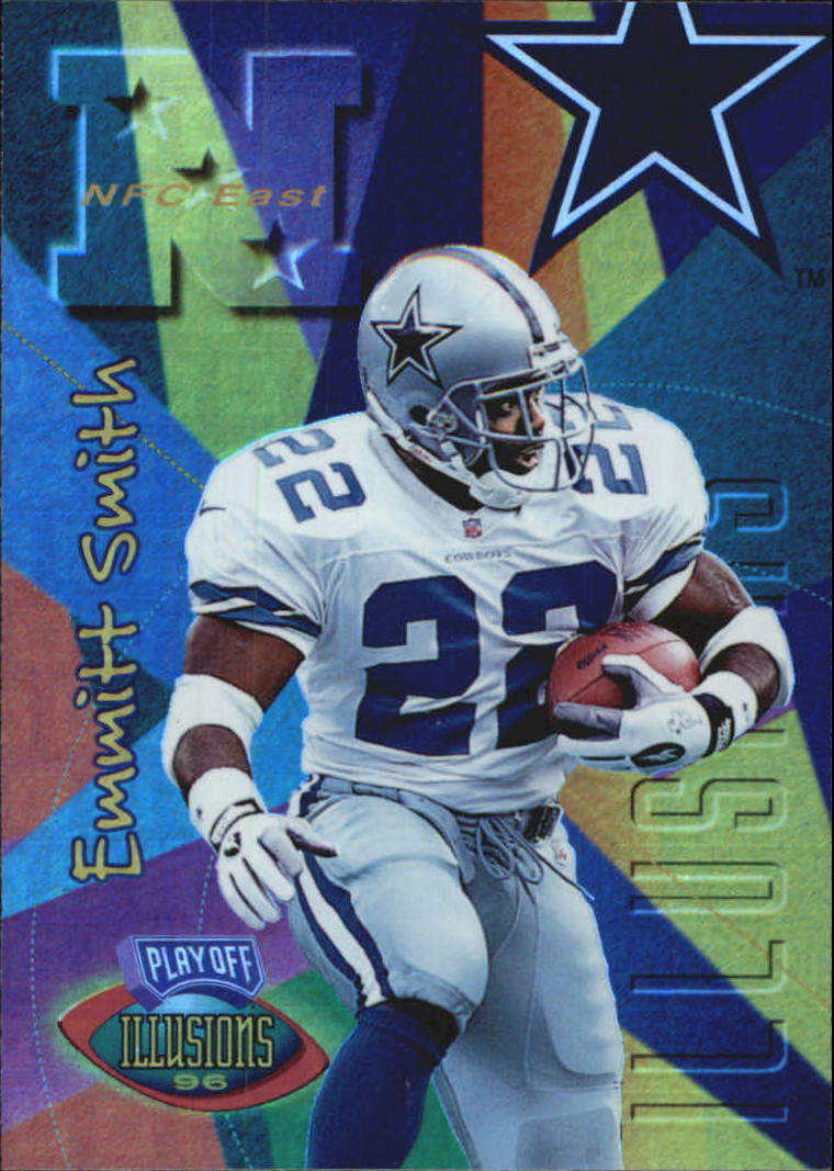 1996 Playoff Illusions Spectralusion Elite #90 Emmitt Smith