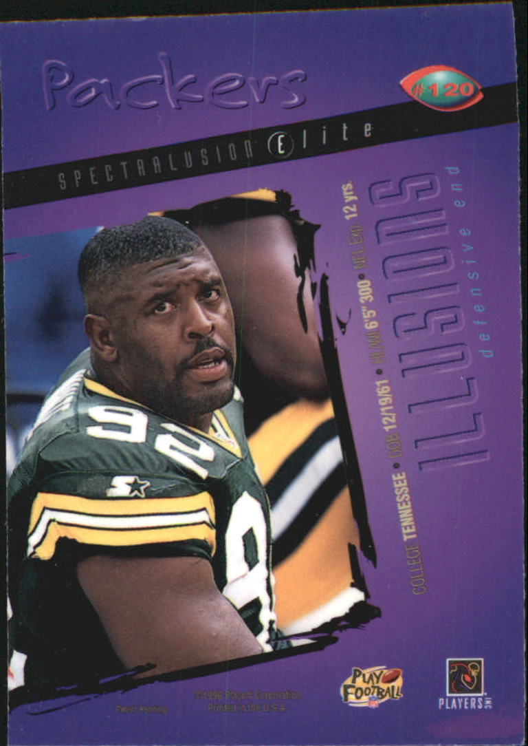 1996 Playoff Illusions Spectralusion Elite #120 Reggie White back image