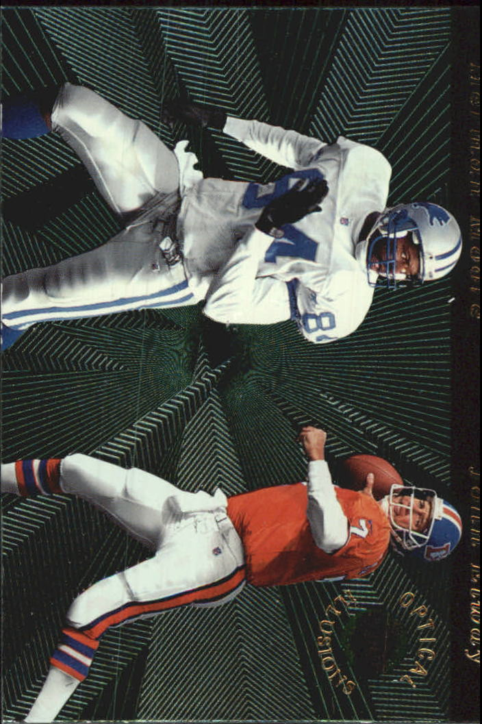 1996 Playoff Illusions Optical Illusions #5 John Elway/Herman Moore