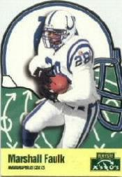 1996 Playoff Prime X's and O's #5 Marshall Faulk